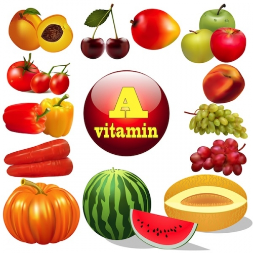 illustration vitamin a herbal products The origin of the